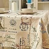 Leinentischdecke Runden Couchtischtuch Tischdecke Rechteckiger Tisch Matte (Größe: 140X200Cm) XXPP