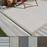 casa pura Outdoor-Teppich Eco-Beauty | mit Bordüre | Ideal für Terrasse, Balkon, Garten, Küche, Flur | aus Kunststoff Wetterfest und rutschsicher | Viele Größen und Farben (Palermo, 200x290 cm)