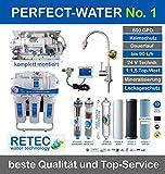 Osmoseanlage 600 GPD Perfect Water No. 1 Ultimate PLUS PRO 2018 direct flow kein Tank nötig Umkehrosmosewasserfilter Wasserfilter Trinkwasser Umkehrosmose Reverse Osmosis