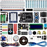Smraza Für Arduino Starter Kit, Ultimate UNO Project Kit mit Tutorial, UNO R3 Mikrocontroller, Stepper Motor und Servomotor Kompatible mit Arduino UNO R3 Mega2560 Nano v3(26 Projects)