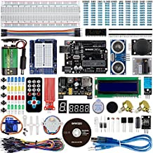 Smraza para Arduino UNO Project Starter Kit con Placa UNO R3, Servomotor, Stepper Motor y Guías Tutorial para Arduino UNO R3 Mega2560 NANO