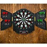 Blitzzauber 24 Cible de fléchettes électronique Jeu de fléchettes avec Affichage LED Disque de Fléchettes 12 pcs pour 8 Joueurs Maximum