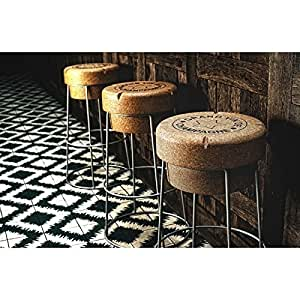 tabouret de bar haut en forme de bouchon de champagne cuisine maison. Black Bedroom Furniture Sets. Home Design Ideas