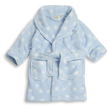 BABYTOWN Baby Girls Boys Star/Heart Fleece Dressing Gown Robes ...