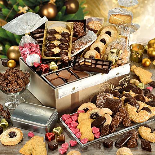 Weihnachtspaket mit gefüllter Schmuck-Schatulle, Geschenk-Box, mit Weihnachtsgebäck, Geschenkidee zu Weihnachten, 1 x 2,1 kg