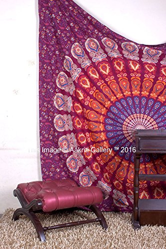maroon-barmeri-tapestry-hoja-de-playa-indio-colgante-de-pared-reina-mandala-colcha-dormitorio-decor-