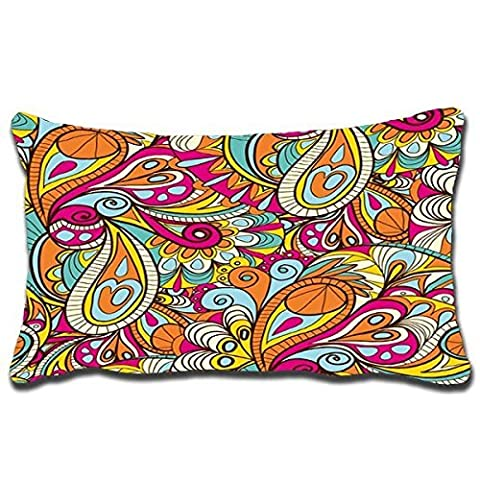 Seattle night 1Pcs Bohemian Style Background Style Hug Pillow Rectangular Pillow Cover Silk Pillowcases Bed Linings 20X30 Inch