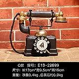 KIKIXI Europäische Retro Telefon nach Hause kreative Wohnzimmer weinschrank kleine Ornamente raumdekorationen Modell basteln möbel eingerichtet, altmodische Telefon B