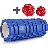 Maximo Fitness Foam Roller - Rouleau Massage - 14cm * 33cm - Instructions en Français.