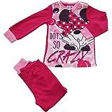 SUN CITY Pijama de niña de forro polar Disney Minnie, de Serafino con puños – Art. 7353