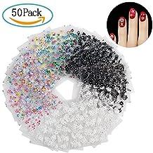 Pegatinas Uñas, Diealles 50 Hojas 3D Pegatina Decoracion para las Uñas Decal DIY Etiqueta Decoración
