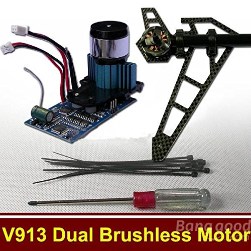 Preisvergleich Produktbild [Versand kostenlos] Hubschrauber-Münzen aus RC WLtoys V913 Aktualisiert-Kit Dual Motor Brushless//WLtoys V913 RC Helicopter Parts Upgraded Kit Dual Brushless Motor