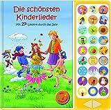 27-Button Soundbuch - Die schönsten Kinderlieder zum Mitsingen - Mit 27 Liedern durch das Jahr Hardcover-Buch mit Noten