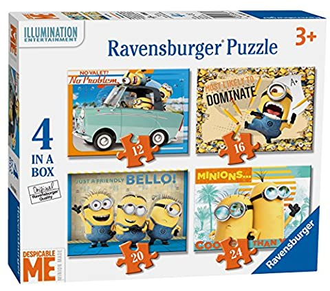 Ravensburger Despicable Me 4in einer Box (12, 16, 20, 24-) Puzzle