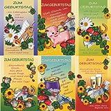 Geburtstagskarten 25 Stück Geburtstagskarte Glückwunschkarten Grußkarten - 51-6640