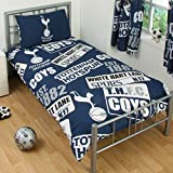 Bettwäsche mit Tottenham Hotspur FC Design (Einzelbett) (Marineblau/Weiß)