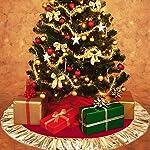 Decorazione per base albero di Natale in tessuto felpato, grande, 78cm, bianca