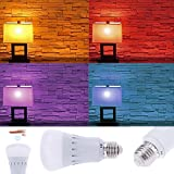 Tomtopp E27 RGB Light Color Change Dimmable WIFI APP Remote Control LED Bulb