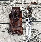 KNIFE SHOP Survie Sauvage Couteau Modèle d'onde De l'eau Concave Forgé Damas Pliant Couteau Poche Boutique Haut De Gamme Couteau