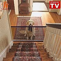 Magic Gate Dog - Barrera de Seguridad Plegable Portátil para Perro, Puerta de Seguridad Aislada para Perros y Mascotas, 72 x 180 cm (Negro)