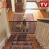 Nifogo Magic Gate Schutzgitter Haustiere, Hund Safe Guard, Portable Folding Safe Guard Innen und Außenschutz Sicherheitstor (72 x 180 cm)