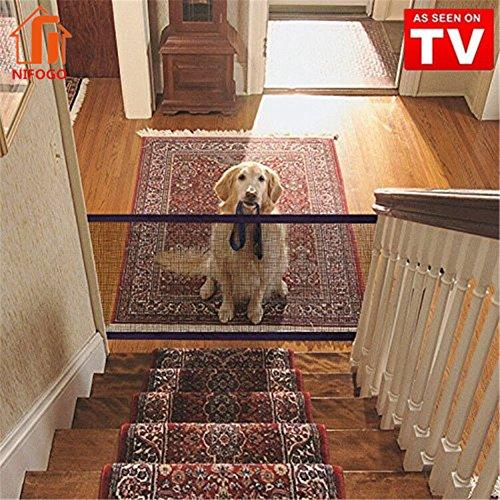 Magic Gate Dog Portatile, Newest Isolamento Pet Safety Enclosure Net, Retrattile Dog Pet Animali Cancello Staccionate Auto Barriera, 72 x 180 cm (Nero)