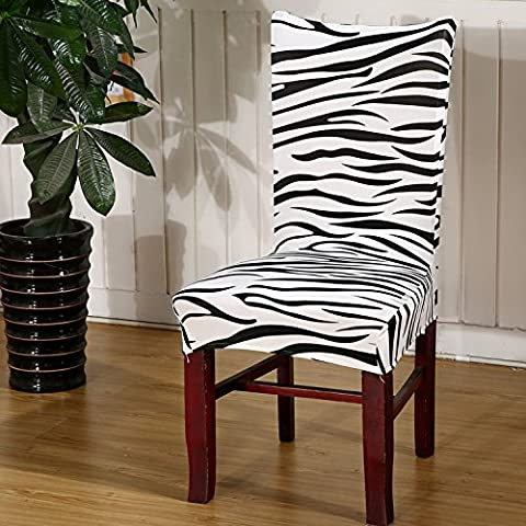 Nibesser Soft Fit Stretch Short Dining Room Chair Covers, Printed Pattern, Banquet Chair Seat Protector Slipcover for Party Hotel Wedding