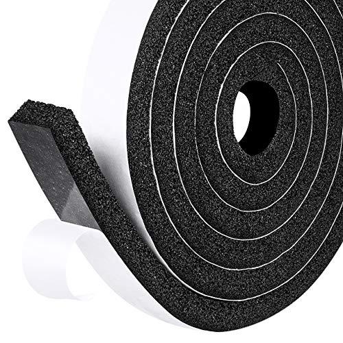 Preisvergleich Produktbild fowong Moosgummi Dichtungsband Selbstklebend 25mm(B) x12mm(D) Kompriband Schaumstoffband Selbstklebend für Fenster Tür Kollision Siegel Schalldämmung Gesamtlänge 4m (2 Rollen je 2m lang)