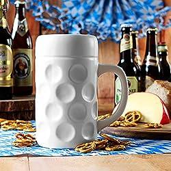 Jarra dse Cerveza Stein Munich cerámica con agujeros,