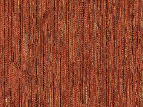 Landhaus Möbelstoff Garmisch Farbe 18 (rot Braun, Terra)   Modernes  Chenille Flachgewebe (gemustert, Gestreift, Fleckerlteppich Optik)  Polsterstoff, Stoff, ...
