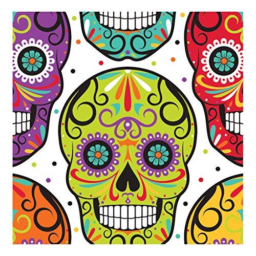 Preisvergleich Produktbild 16 Servietten Dia de los Muertos aus Papier 33 cm