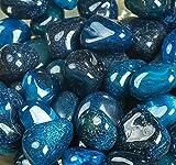Royal pietre color zaffiro blu naturale della pietra decorativa ciottoli pietre decorative River Rock-Uso in vetro, come vasi, acquari e terrari per migliorare l' aspetto 2kilogram