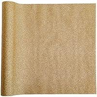 Tissu décoratif pailleté dore | 28 cm x 2,50 m | Chemin de table or | décoration de table de Noel | Nouvel An