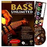 Bass Unlimited–umfassendes Travail Livre pour médiator pour guitare basse électrique pour guitare basse avec 2CD, avec de la musique Schubert Card©–überarbeitete neuauflage–dux790–9783934958500...