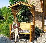 PROMADINO Gartenlaube STARNBERG 142x80x220cm Sitzbank Gartenbank Holz 315/32