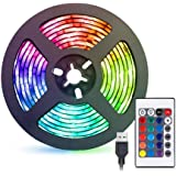 2 Meters LED Strip Light, TV Bias Backlighting Kit for HDTV Desktop PC Decoration, Waterproof RGB Monitor Lights with Remote-