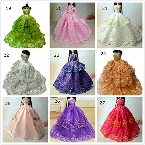 Fashionistas Hochzeit Kleidung Prinzessinnen Kleider Für Barbie Puppe/Spitzekleid / Puppenzubehör Dress Up (2er (Outfits Ferien Weihnachts)