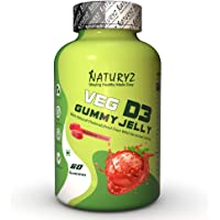 Naturyz Vegetarian Vitamin D3 Gummy Jelly for Bone health and boost Immunity with Natural Cholecalciferol from Wild…