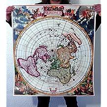 Flat Earth: Jacobus Robijn 1700 - Nieuw Aerdsch Pleyn - Printed Thick PVC Weatherproof Tarpaulin (33x30inch)