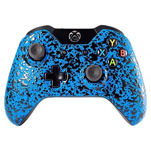 eXtremeRate Rutschfeste Strukturierte Blau Wulst Design Konvex Granule Effekt Frontplatte, Vorne Gehäuse Shell Ersatzteile für Xbox One Standard Controller