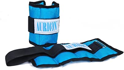 Aurion ANKL-B-1 Canvas Ankle and Wrist Weights, 2Kg (Black/Blue)