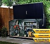 Trimetals Gerätebox, Aufbewahrungsbox, Multifunktionsbox, Fahrradbox Storeguard Anthrazit 196x89x113cm (LxBxH) // Wasserdichte Multibox