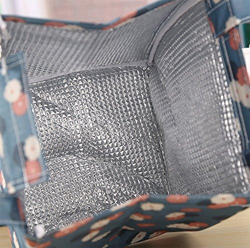 Demarkt Sacco per il Pranzo Pranzo Al Grande Portatile da Asporto Tote Bag di Uomini Donne Esterna Vampeggio Pic-nic Colore 4