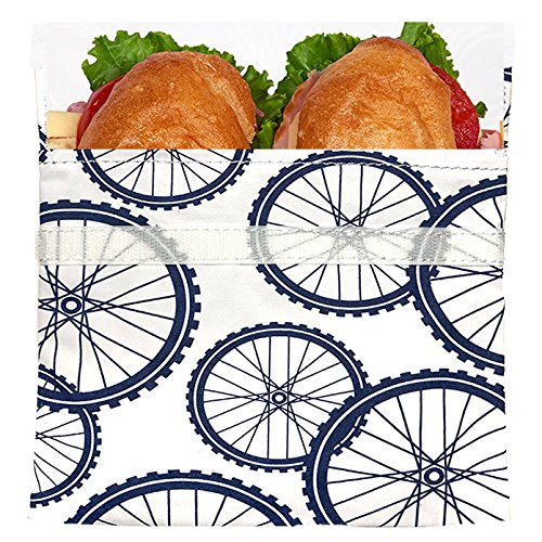 Lunchskins Sub Bag, Sandwich Tüte, Blue Bike