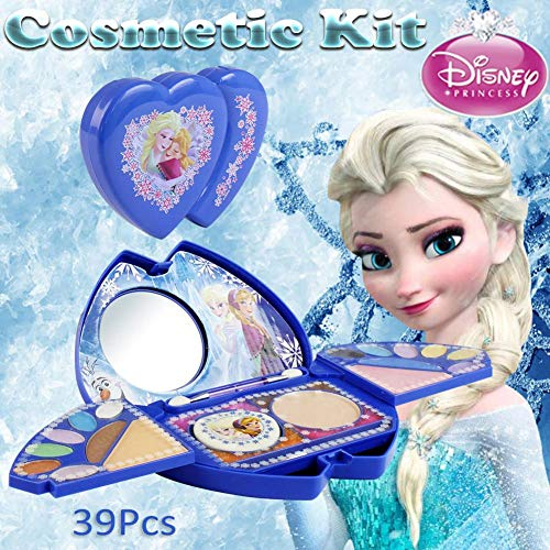 Girls Makeup Toy Set - 39Pcs Disney Frozen Kit De