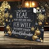 Image of printplanet - Adventskalender Mir doch Egal wie alt ich Bin, ich Will trotzdem einen Adventskalender - mit Schokolade - Design Weihnachtskalender, Schoko-Adventskalender mit Spruch