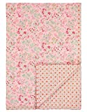 Pip Studio Tagesdecke Jaipur Flower I Farbe Pink I 220x260 cm I Blumenmuster I Polyesterfüllung I Bezug reine Baumwolle