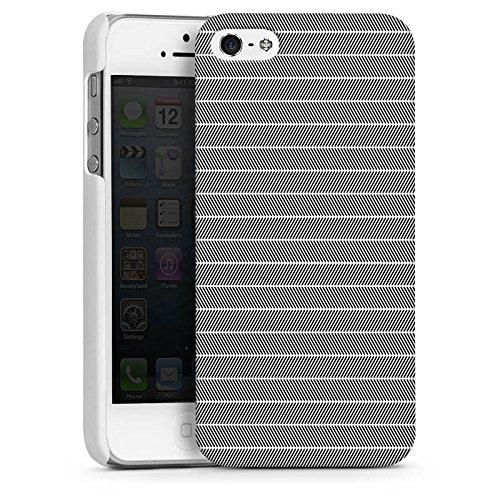 Apple iPhone 5s Housse Outdoor Étui militaire Coque Effet d'optique Noir et blanc Motif CasDur blanc