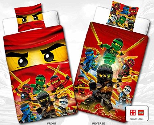 Biber Kinder Wende Bettwäsche Lego Ninjago Champion Fire 135