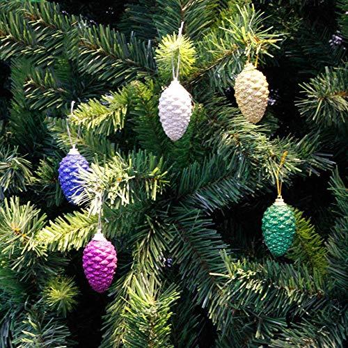 Littlefairy Weihnachtsdekoration, 2 Verpackung Bunte Nachahmung Zirbeldrüse Kugel Anhänger Kunststoff Pulver Gürtel Lanyard
